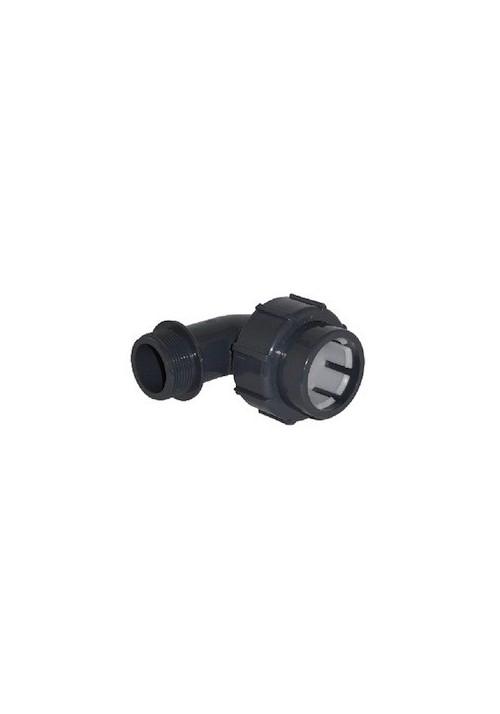 Raccord rapide Coude 90° mixte FM à compression/ à visser pour Pvc souple de piscine