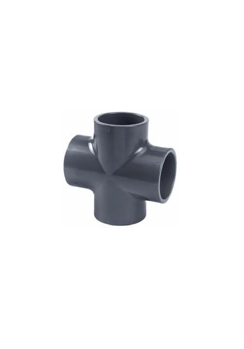 Croix 90°, PVC pression pour piscine