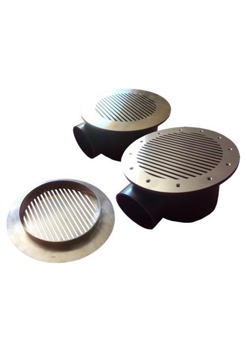 Grille inox AQUATECH pour bonde de fond Pro pour bassin