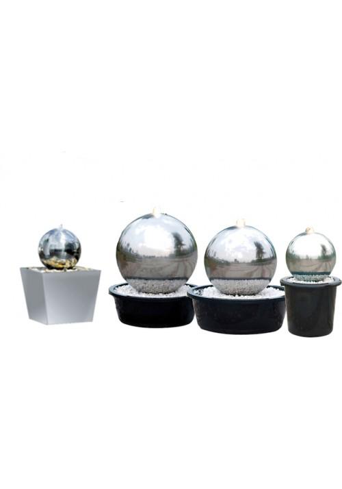 Kit fontaine boule Désign inox pour jardin