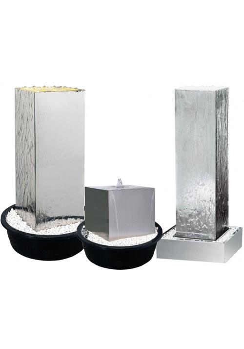 Kit fontaine cube Désign inox pour jardin