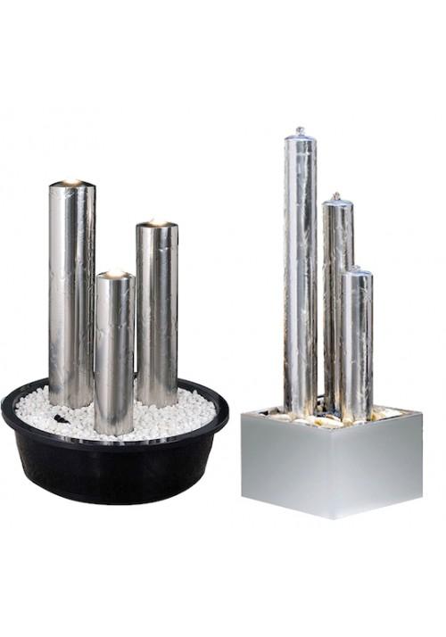Kit fontaine colonnes Désign inox pour jardin