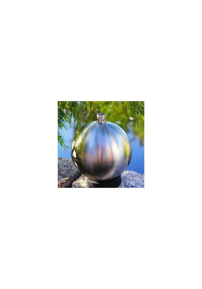 Lampe à huile de jardin en Inox flottante ou à poser