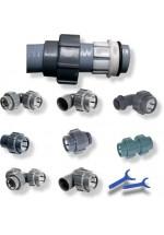 Raccords rapides pour tuyaux PVC souples